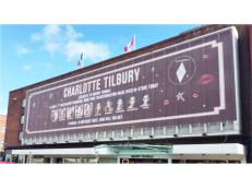Charlotte Tilbury, BT, Limerick, Ireland, Building Wrap, Promotional Advertising